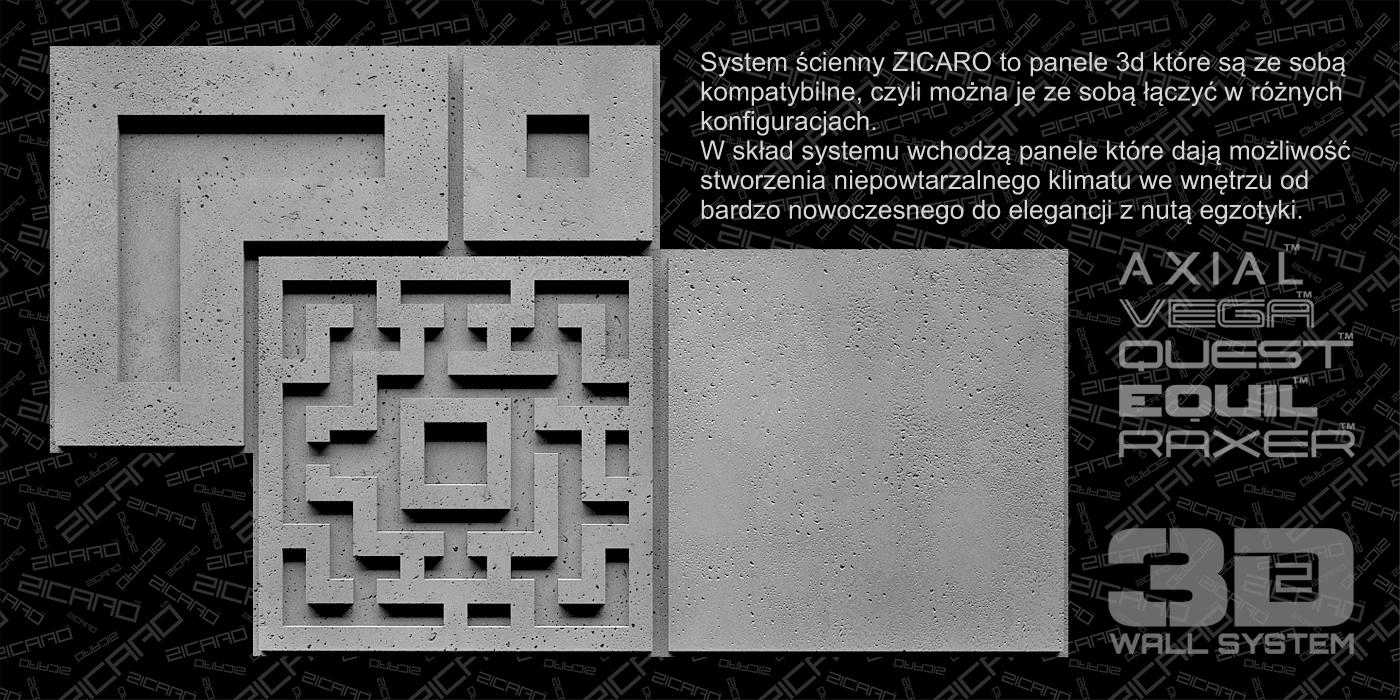Zicaro panele 3d system
